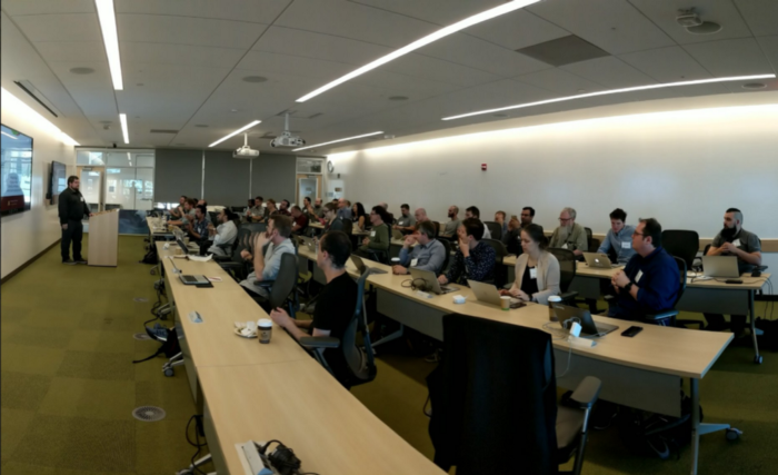 Participants in the Jupyter for Science Workshop in Berkeley